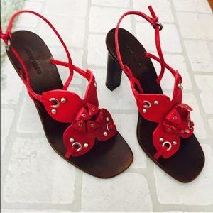 Miu miu red high heel sandal